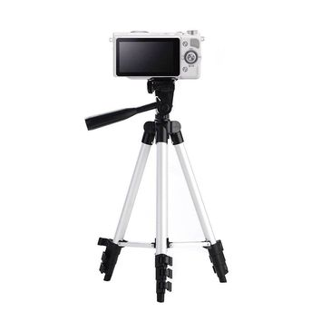 Morjava 3110A Lightweight Tripod with Adjustable-height legs Free Phone Holder with Bag