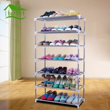 Non-woven Fabric Storage Shoe Rack Hallway Cabinet Organizer Holder Removable Door Shoe Storage Cabinet Shelf DIY Home Furniture