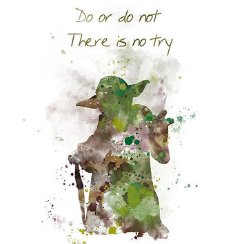 'Do or Do Not' Poster by MonnPrint