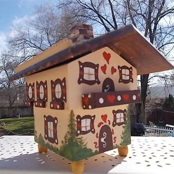 Cottage Chalet 3 Piece Music Box/Shabby Cottage Chic / Wood /Not included in Coupon Discount Sale New Listing :) S