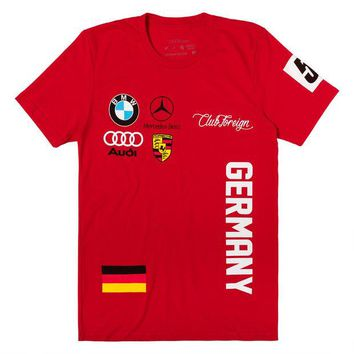 ONETOW Club Foreign T-Shirt Germany Series in Red