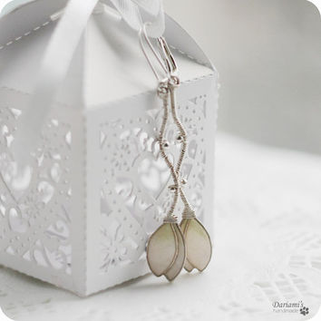 Dangle earrings - Snowdrops
