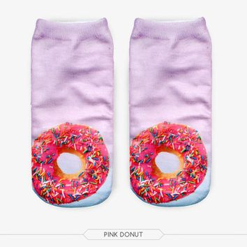 Glazed & Sprinkled Donuts & Ice Cream Socks Funny Crazy Cool Novelty Cute Fun Funky Colorful