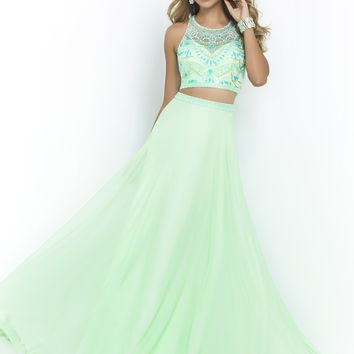 Blush 9916 Funky Beaded 2PC Gown