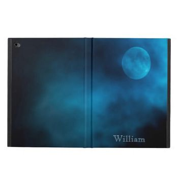 Blue moon with dark clouds add a name powis iPad air 2 case