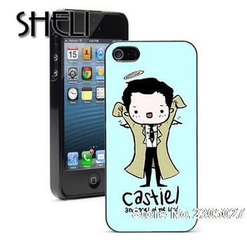 SHELI Castiel angel of the lord supernatural case cover for iphone 5s 6 6s 6plus 7 7plus Samsung galaxy s3 s4 s5 s6 edge s7 edge