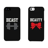 Beauty and Beast Matching Couple Phone Cases for iphone 4, iphone 5, iphone 5C, iphone 6, iphone 6 plus, Galaxy S3, Galaxy S4, Galaxy S5 in Black