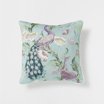 PEACOCK PRINT LINEN CUSHION - Cushions - Bedroom | Zara Home United Kingdom