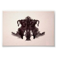 The Rorschach Test Ink Blots Plate 4 Poster from Zazzle.com