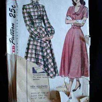 b216963977 Vintage Sewing Pattern Simplicity  2523 Dress 1940S Small