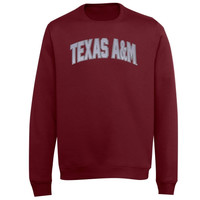 Majestic Texas A&M Aggies Cheer Them On Crewneck Sweatshirt - Maroon