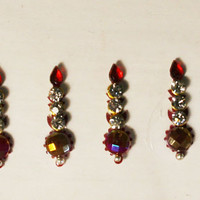 Bollywood Stunning Fancy Maroon Bindis / Tribal Bindi in New Styles.