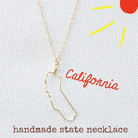 State Necklace California Texas All 50 States State by laosborn