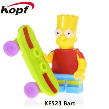 KF523 Building Blocks Simpson Series Figures Bart Melso Flanders Marge Pronton Mihouse Homer Learning Action For Children Toys