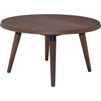 Jin Side Table American Walnut & Black