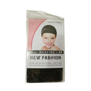 5PCS Black Stretchable Elastic Hair Nets Snood Wig Cap Cool Mesh New Arrival 17f16