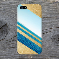 Gold Glitter x Deep Blue Ocean Case for iPhone 6 6 Plus iPhone 5 5s 5c iPhone 4 4s Samsung Galaxy s6 s5 s4 & s3 and Note 4 3 2