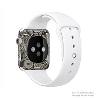 The Black Floral Laced Pattern V2 Full-Body Skin Set for the Apple Watch