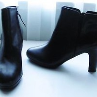 Ralph Lauren Boots Size 11 Boots Black Booties Ankle Boots Leather Designer Boot