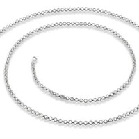Amazing 1 Mm 925 Sterling Silver Rolo Chain Made in Italy. 18 Inch Silver Necklace with Clasp