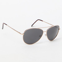 PacSun Gold Aviator Sunglasses at PacSun.com