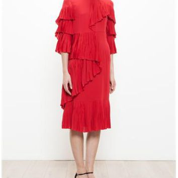 GUCCI | Frill Panel Dress | brownsfashion.com | The Finest Edit of Luxury Fashion | Clothes, Shoes, Bags and Accessories for Men & Women