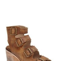 Women's Freebird by Steven 'Quail' Open Toe Leather Bootie,
