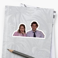 'jim and pam' Sticker by swampyak