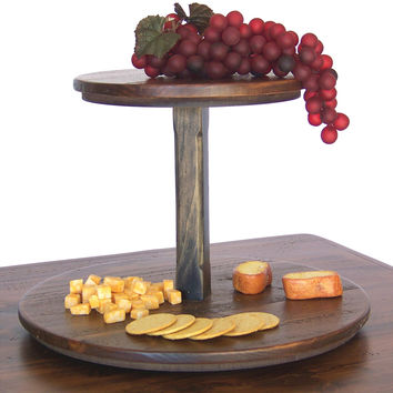 2 Tier Wooden Lazy Susan