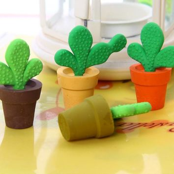 1 PCS Cactus Pencils Rubber Erasers For Guest Gifts Guest Gifts For Weddings Party Decoration Favors Festive Party Supplies