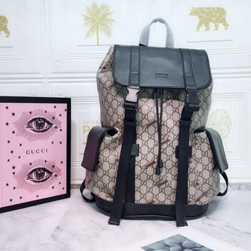 HCXX Spe 947 Gucci GG Classic Casual Fashion Backpack 34-42-16cm
