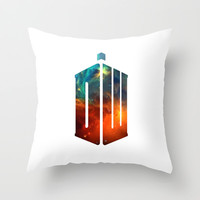 Doctor Who V Throw Pillow by Rain Carnival