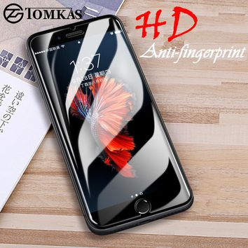 Tomkas Screen Protectors Tempered Glass For iPhone X 5 6 7 8 Glass Screen Protector For iPhone 7 on Glass X 5 6 6s 7 8 Plus