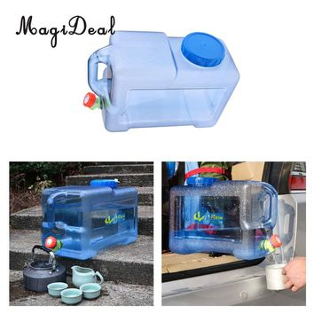 MagiDeal 12L Lightweight Portable Outdoor Camping Car Water Carrier Bucket Canister Storage Container with Handle & Water Tap
