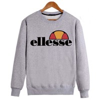 Ellesse Sweatshirt for Fall and Winter 2018 without Hooide Flat Brand Male Hooides Uinsex Fashion Hoodie  KK-6
