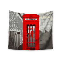 "Oriana Cordero ""London"" Red Gray Wall Tapestry"