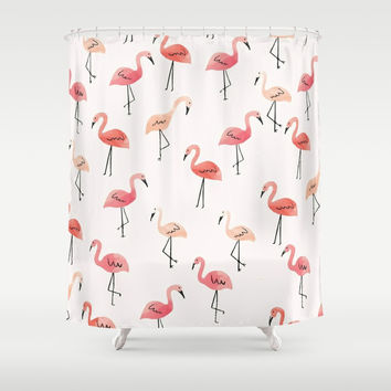 Flamingo Fun Shower Curtain by allisone