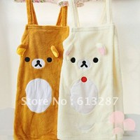 Free Shipping Kawaii Rilakkuma Sexy Women Bathrobe,Nightwear,Lady Sleepwear Women Robe,Skirt Nightgown,Christmas Gift Retail