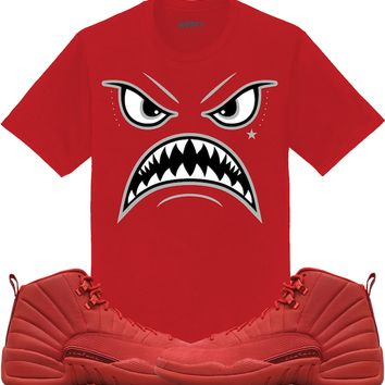 Jordan 12 Gym Red Sneaker Tees Shirt - OREO WARFACE