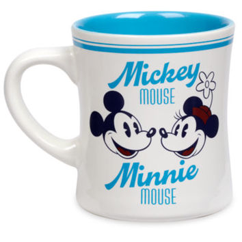 Disney Store Mickey and Minnie Mouse Blue Fall Fun Mug