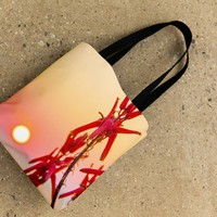 Sunrise Flowers Tote Bag