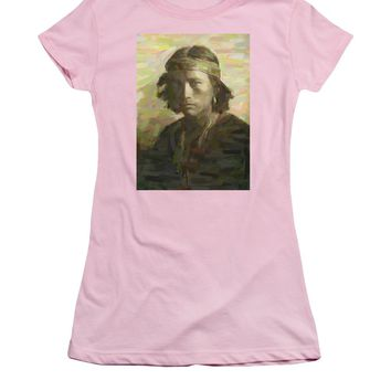 Portrait Of A Navajo Youth 1 - Women's T-Shirt (Athletic Fit)