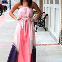 Blushing in Color Block {Tube Maxi}