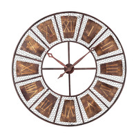 Outdoor Wall Clock Curnished Copper