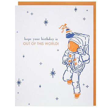 Smudge Ink - Out of This World Birthday Card