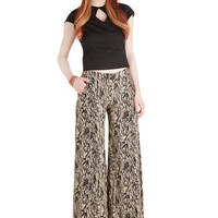 ModCloth Vintage Inspired Wide Leg Marbleize on the Prize Pants