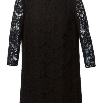 ONETOW Burberry London floral lace shift dress
