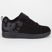 Dc Shoes Court Graffik Boys Shoes Black/Black/Battleship  In Sizes