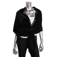 Alex Evenings Womens Velour Mesh Inset Shawl/Wrap