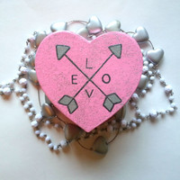 Love - arrows- heart shaped jewelry box for trendy girls room